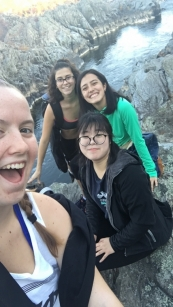 SHM Students out hiking