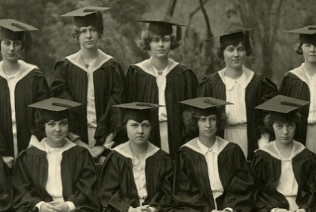 Graduation photograph from the Mount Vernon Seminary and College