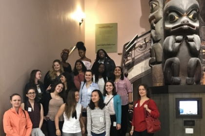 SHM students join members of the Association for Women in Science