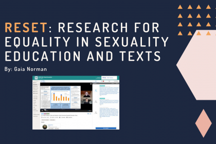 RESET: Research for Equality in Sexuality Education and Texts